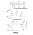 Office interior workplace concept vector image vector image