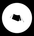 one tent simple silhouette black icon eps10 vector image vector image