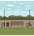 park bench scene vector image vector image