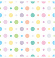 Polka dots and circles seamless pattern