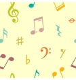 seamless pattern of music notes and icons vector image vector image