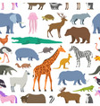 seamless pattern with animal zoo vector image vector image