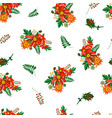 seamless pattern with floral elements on the vector image