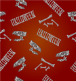 Seamless texture Halloween inscription vector image vector image