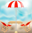 seat in summer vector image