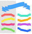 set of flat isolated colored ribbons and banners vector image vector image