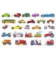 set of transport vehicles vector image vector image