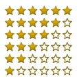 Simple Rating Stars on White background