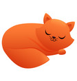 sleeping cat cute cartoon character vector image