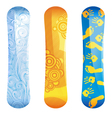 snowboards vector image vector image