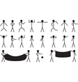 Stick people vector image vector image