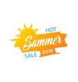 summer banner sun icon summer sale style vector image