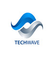 technology wave infinite logo concept design vector image