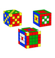 three dice vector image vector image