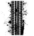 tire track with blots vector image vector image