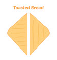 toast fried bakery cartoon flat style vector image vector image