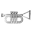 trumpet music instrument symbol vector image vector image