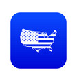 usa map icon digital blue vector image vector image