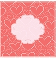Valentines day card and seamless pattern vector image