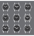 various watch case and dials with hands eps10 vector image vector image