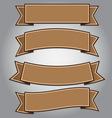 Vintage brown ribbon banner