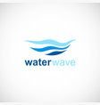 water wave ocean logo vector image