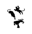 Wild Feline Silhouettes vector image vector image