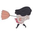 Windy girl 2 vector image