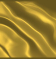 golden wavy fabric background beautiful gold silk vector image