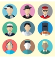 Set of Circle Icons with Man Different Professions vector image