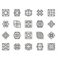 abstract geometric shape 20 vector image
