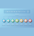 7 options infographic design structure vector image vector image