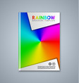 abstract brochure or book cover template vector image vector image