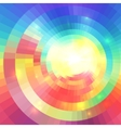 Abstract colorful circular technology mosaic vector image