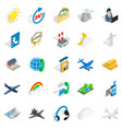 aircraft icons set isometric style vector image vector image