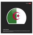 algeria flag design vector image