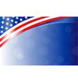 american flag background frame banner vector image vector image