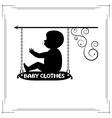 baby clothes single signboard vector image vector image