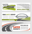 banners for road safety service company vector image vector image