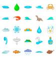 basin icons set cartoon style vector image vector image