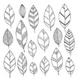 beautiful black and white set of hand drawn doodle vector image