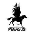 black pegasus sign vector image vector image
