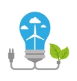 bulb with ecology symbol vector image vector image