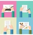business logo design template agreement vector image