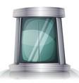 cartoon scifi iron elevator door vector image