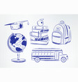 collection education items vector image