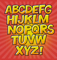 comic alphabet and speech bubble element halftone vector image vector image
