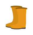 construction boots equipment vector image