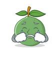 crying guava mascot cartoon style vector image vector image