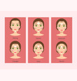 different woman face types vector image vector image